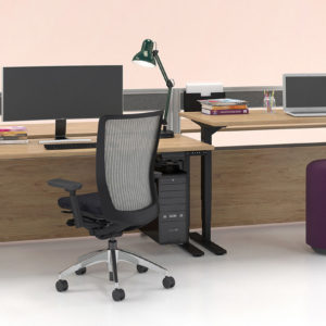 Height Adjustable Workstations with Air Power Boxes