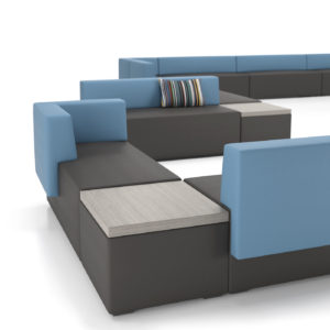 Downtown Lounge Seating with Side Tables
