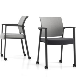Kub Guest Chair with Mesh or Upholstered Back